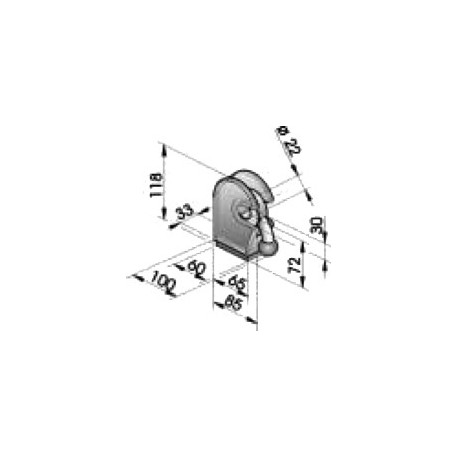 Gond – penture – fermeture - K100230