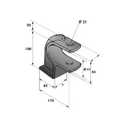 Gond – penture – fermeture - K100240