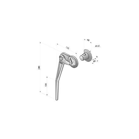 Gond – penture – fermeture - K100331