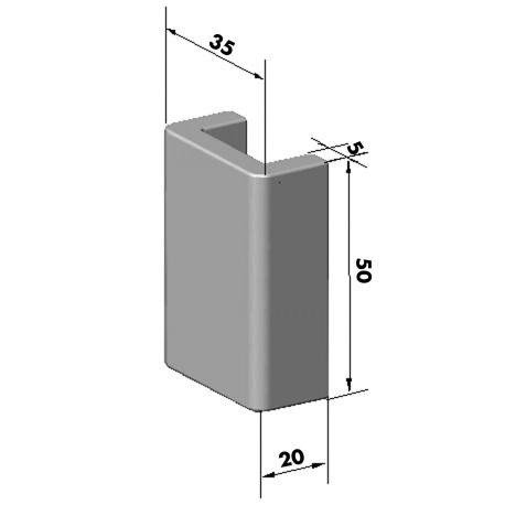Gond – penture – fermeture - K100343