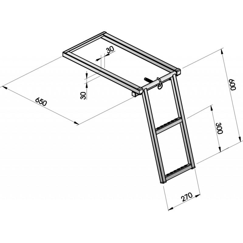 echelle escamotable 2 marches g750030. Black Bedroom Furniture Sets. Home Design Ideas