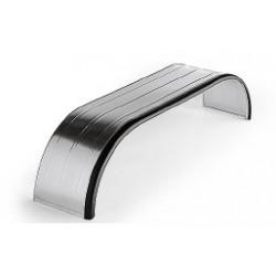 Ailes métallique à triple essieux avec rebord en caoutchouc - C151500