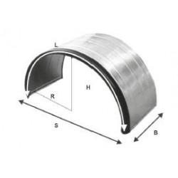 Ailes métallique à double essieux avec rebord en caoutchouc - C101000