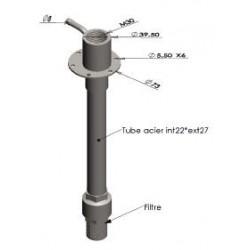 Plongeur à crépine pour réservoir H595 mm - L500010