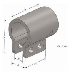 Gousset support d'aile à souder - C300061