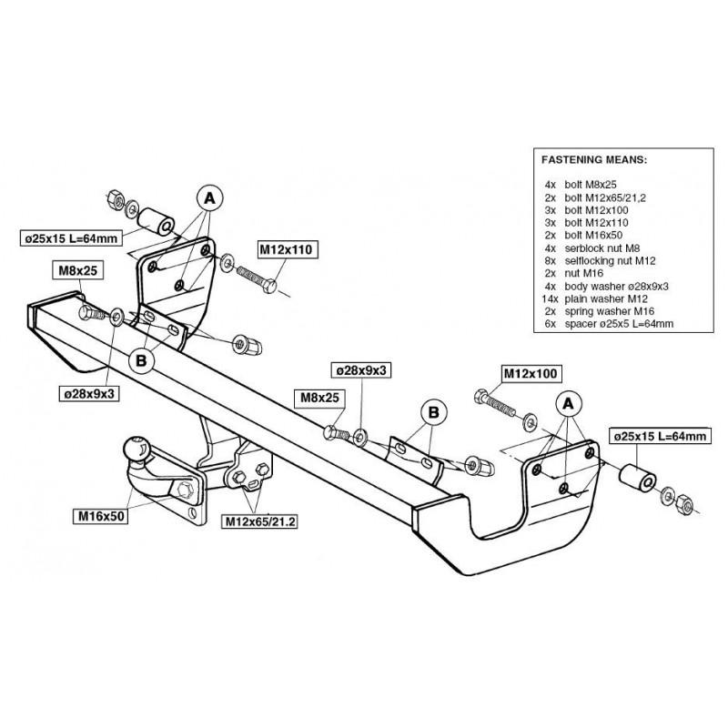 attelage tous types de v hicules q000283. Black Bedroom Furniture Sets. Home Design Ideas