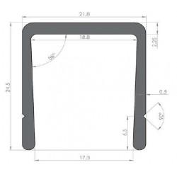 Profil Alu d'encadrement largeur 17.3 - D000201