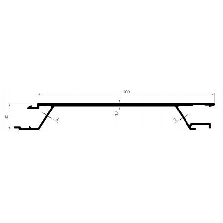 Profil TIR 200mm Ep 30mm - D800060