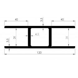Profil de Poteau Central - D800110