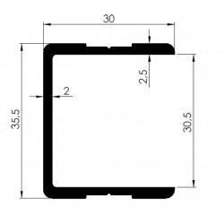Profil d'Encadrement Simple Ep30mm - D0002--