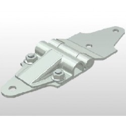 Charnière support de roulette pour porte relevante - T990018