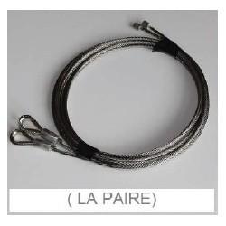 Câbles inox (x2) longueur 3305 mm - T990060