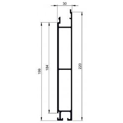 PROFIL INF. BRUT L200 / L7.5M-D800025