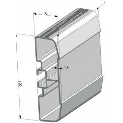 PROFIL PC ALU BRUT L5000 mm-E000050