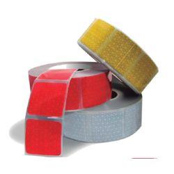 Bande retro-réfléchissante prismatiques (Pour bâches souples) - Jaune I200011