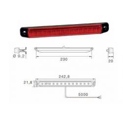 Feu stop LED 3 fonctions cable 5m - I500775