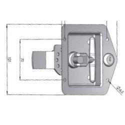 Fermeture inox à clé - G450211