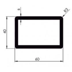 D800440 - PROFIL TUBULAIRE RECTANGLE 60x40 mm