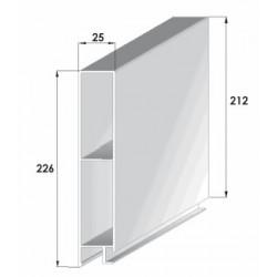 Profils aluminium pour ridelles en 25 mm - D000014