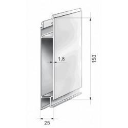 Profils aluminium pour ridelles en 25 mm - D000040