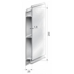 Profils aluminium pour ridelles en 25 mm - D000050
