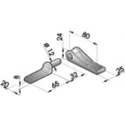 Gond – penture – fermeture - K100100