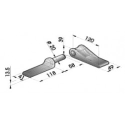 Gond – penture – fermeture - K100130