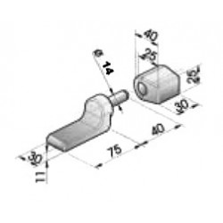 Gond – penture – fermeture - K100140