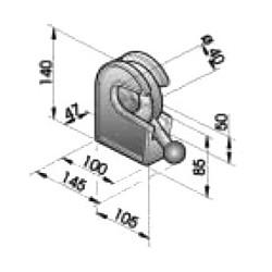 Gond – penture – fermeture - K100220
