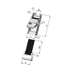 BOUCLE BAS DE RIDEAU - T601030