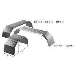 Ailes métallique à triple essieux avec rebord en caoutchouc - C101502