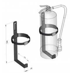 Support extincteur 6 kg - I800700