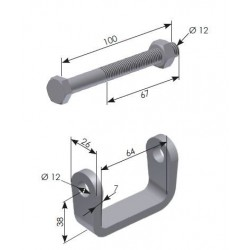 BRIDE SUPPORT D'OUTILS- G300200