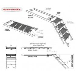 Escabeaux de déménageurs coulissants 7 marches- G750878