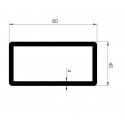 Profil Tubulaire RECTANGLE 80x40x4 - D800430