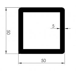 Profil Tubulaire CARRE 50x50x5 - D800410