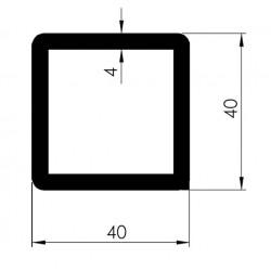 Profil Tubulaire CARRE 40x40x4 - D800420