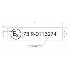 Etiquette de marquage R73 pare-cycliste - E150030