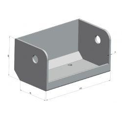 Pièce de butoir à rouleau / support de rouleau simple