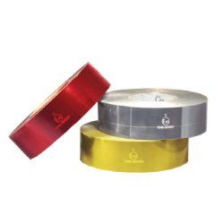 Bande retro-réfléchissante prismatiques (Pour supports rigides) - Rouge I200017