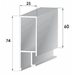 Profils aluminium pour ridelles en 25 mm - D000012