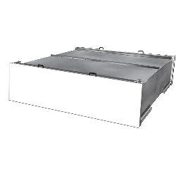 Coffres à palettes avec toit (36 palettes) et porte blanche-A550300