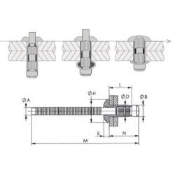 H100112C100 - ORLOCK TP6.4 L12.5 - AC/AC (QTE 100)
