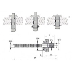 H100115C100 - ORLOCK TP6.4 L18.5 - AC/AC (QTE 100)