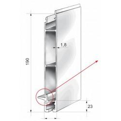Profils aluminium pour ridelles en 25 mm - D000021
