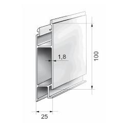 Profils aluminium pour ridelles en 25 mm - D000031